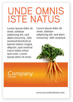 Agriculture and Animals: Carrot Ad Template #02511