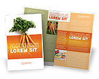 Agriculture and Animals: Carrot Brochure Template #02511