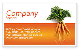 Carrot Business Card Template