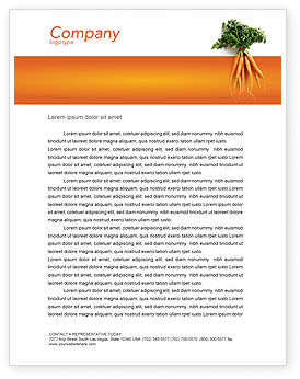 Agriculture and Animals: Carrot Letterhead Template #02511