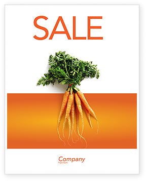 Carrot Sale Poster Template