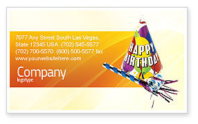 Holiday/Special Occasion: Birthday Business Card Template #02513