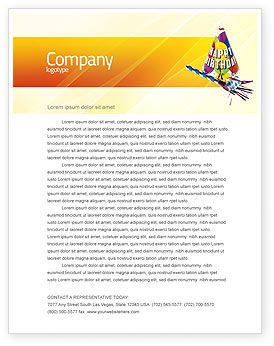 Birthday Letterhead Template, 02513, Holiday/Special Occasion — PoweredTemplate.com