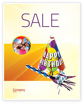 Birthday Sale Poster Template, 02513, Holiday/Special Occasion — PoweredTemplate.com