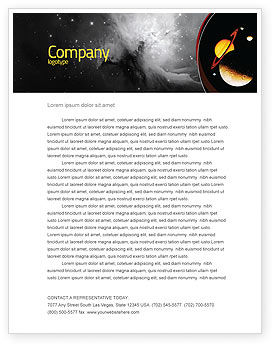 Open Space Letterhead Template, 02517, Education & Training — PoweredTemplate.com