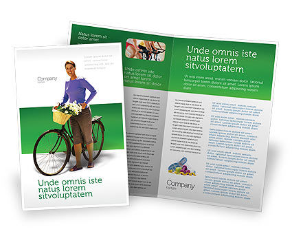 Wellness Brochure Template, 02522, People — PoweredTemplate.com