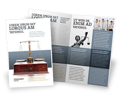 Legal: Judicial Brochure Template #02523