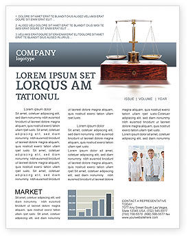 Legal: Judicial Newsletter Template #02523