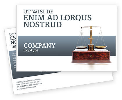 Legal: Judicial Postcard Template #02523