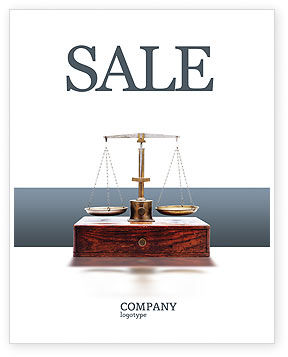 Legal: Judicial Sale Poster Template #02523
