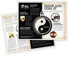 Religious/Spiritual: Templat Brosur Yin Yang #02525