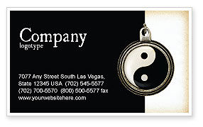 Yin Yang Business Card Template, 02525, Religious/Spiritual — PoweredTemplate.com