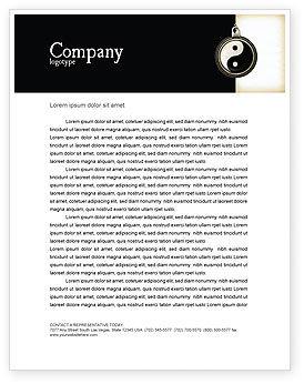Religious/Spiritual: Plantilla de membrete - yin yang #02525