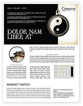 Religious/Spiritual: Yin Yang Newsletter Template #02525
