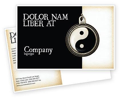 Religious/Spiritual: Modello Cartolina - Yin yang #02525
