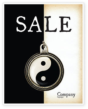 Religious/Spiritual: Yin Yang Sale Poster Template #02525