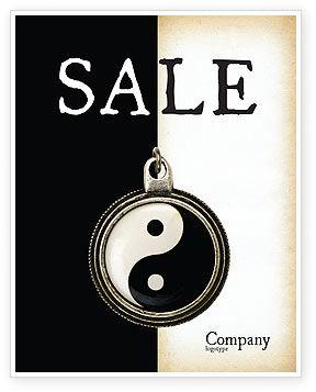 Religious/Spiritual: Yin Yang Poster Template #02525