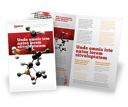 Genetically Recombinant Medicine Brochure Template, 02526, Technology, Science & Computers — PoweredTemplate.com