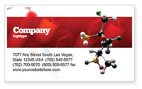Genetically Recombinant Medicine Business Card Template, 02526, Technology, Science & Computers — PoweredTemplate.com