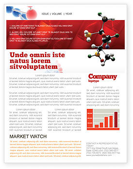 Genetically Recombinant Medicine Newsletter Template, 02526, Technology, Science & Computers — PoweredTemplate.com