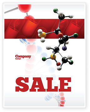 Technology, Science & Computers: Genetically Recombinant Medicine Sale Poster Template #02526