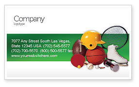 Sports: Sports Inventory Business Card Template #02527