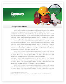 Sports Inventory Letterhead Template, 02527, Sports — PoweredTemplate.com