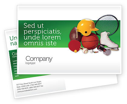 Sports: Sports Inventory Postcard Template #02527
