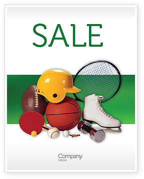 Sports Inventory Sale Poster Template, 02527, Sports — PoweredTemplate.com