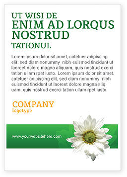 Nature & Environment: Ox-eye Daisy Ad Template #02533