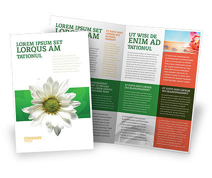 Ox-eye Daisy Brochure Template, 02533, Nature & Environment — PoweredTemplate.com