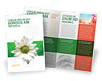 Nature & Environment: Ox-eye Daisy Brochure Template #02533