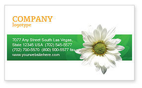 Nature & Environment: Ox-eye Daisy Business Card Template #02533