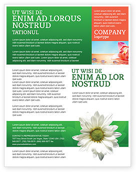 Ox-eye Daisy Flyer Template, 02533, Nature & Environment — PoweredTemplate.com