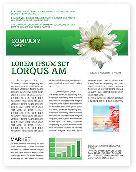 Ox-eye Daisy Newsletter Template, 02533, Nature & Environment — PoweredTemplate.com