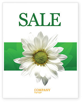 Nature & Environment: Ox-eye Daisy Sale Poster Template #02533