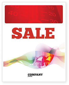 Global Warming Sale Poster Template, 02536, Nature & Environment — PoweredTemplate.com