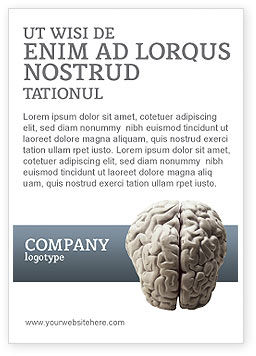 Medical: Brain In Gray Ad Template #02541