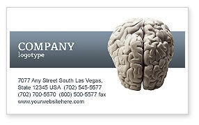Brain In Gray Business Card Template, 02541, Medical — PoweredTemplate.com