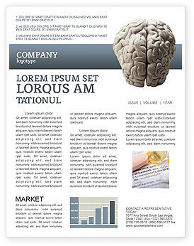 Medical: Brain In Gray Newsletter Template #02541