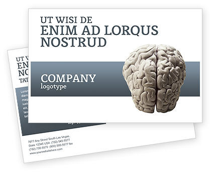 Medical: Brain In Gray Postcard Template #02541