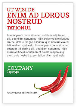 Food & Beverage: Hot Pepper Ad Template #02550