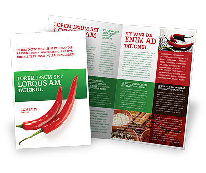 Hot Pepper Brochure Template, 02550, Food & Beverage — PoweredTemplate.com