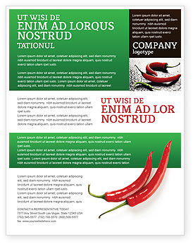 Food & Beverage: Hot Pepper Flyer Template #02550