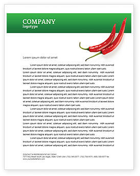 Food & Beverage: Hot Pepper Letterhead Template #02550