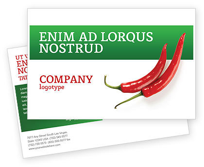 Food & Beverage: Hot Pepper Postcard Template #02550