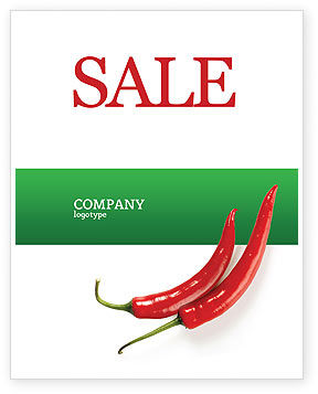 Food & Beverage: Hot Pepper Sale Poster Template #02550