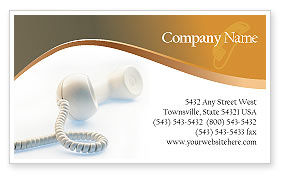 Telecommunication: Helpline Business Card Template #02551