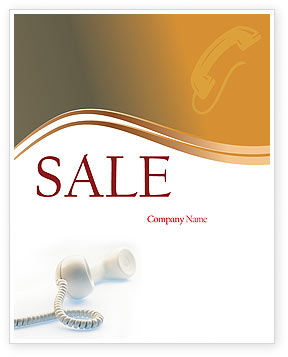 Telecommunication: Helpline Sale Poster Template #02551