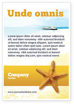 Agriculture and Animals: Star Fish Ad Template #02556